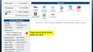 how to change main domain in cpanel